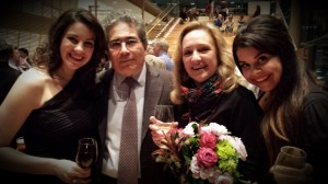 Opening night of La bohème at the Canadian Opera Company (Joyce El-Khoury, maestro Carlo Rizzi, Marie Bérard, Simone Osborne)